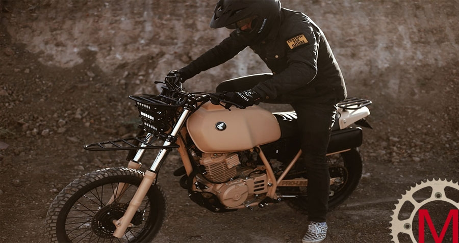 Herencia Custom Garage: скрэмблер Honda XL600R Dirt Trooper